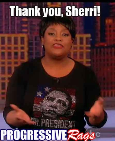"Obama Womens Rhinestone 3/4 Sleeve ""Mr President"" Womens Scoopneck Shirt Worn By Sherri Shepherd On ""The View""!"