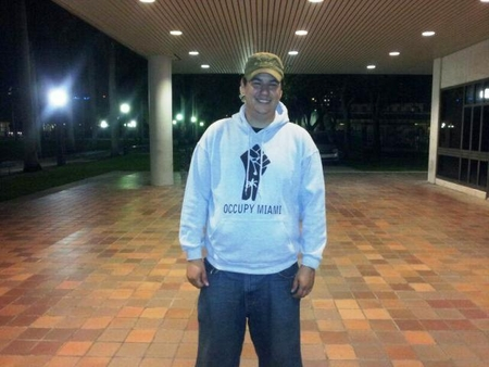 Occupy Miami Fist Logo Hoody