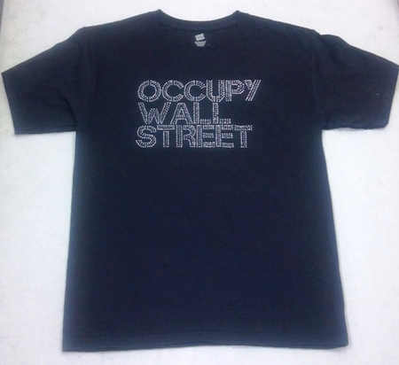 Occupy Wall Street Rhinestone T-Shirt