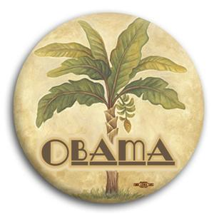 Palm Tree Obama for President Button 3""