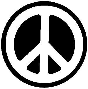"Peace Vynal Window - Multipupose Sticker 4"" x 6"""