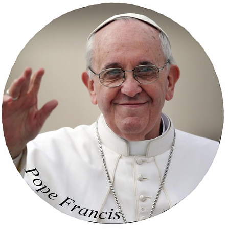 Pope Francis Button - Available In 3 Sizes!