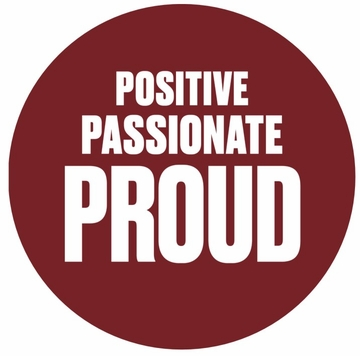 Positive Passionate Proud Pin