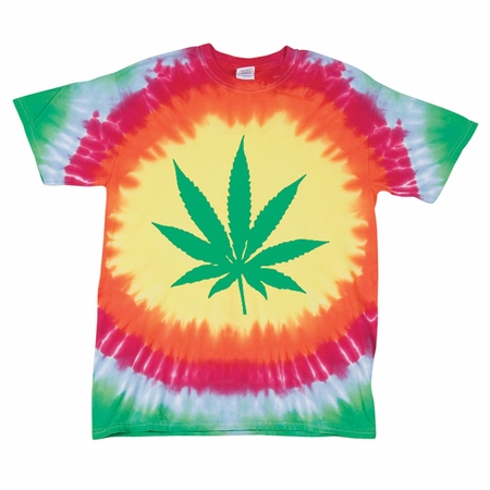 Pot Leaf Tie Dye  Shirt