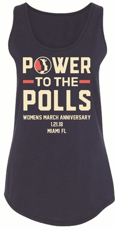 Power To The Polls 2018 Women's March Anniversary Women's Miami Tank Top