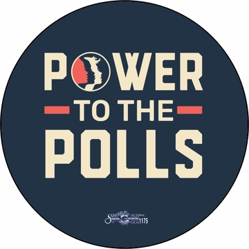 Power To The Polls 2018 Women's March Anniversary Button