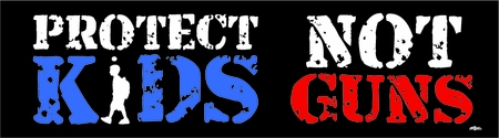 Protect Kids Not Guns Bumper Sticker