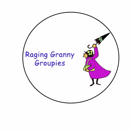 Raging Granny Groupie Button