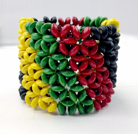 Rasta Mesh Beaded Breacelet