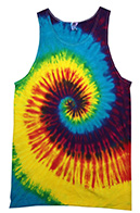 Reactive Rainbow Tie Dye Tank Top