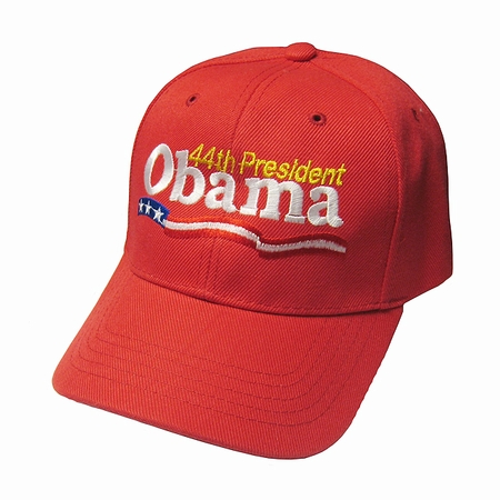 Red 44th President Obama Baseball Cap