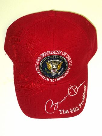 Red Obama Presidential Seal Hat