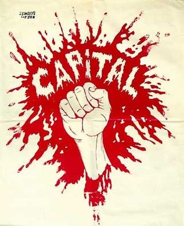 Red Smash Capital Paris May 68 Street Poster T-Shirt