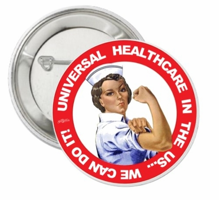 Rosie the Nurse Universal Healthcare Button