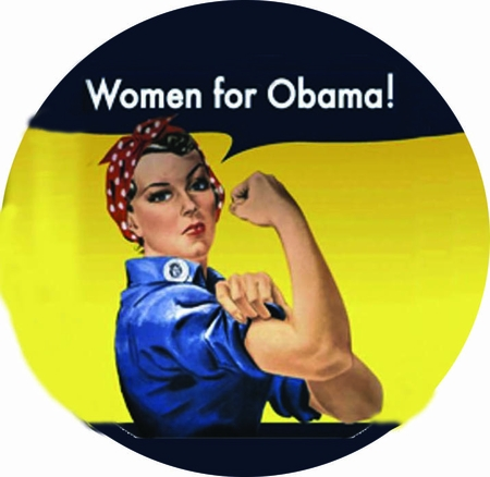 Rosie the Riveter Women for Obama Button