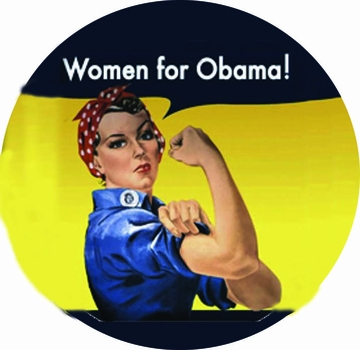 Rosie the Riveter Women for Obama Magnet 3""