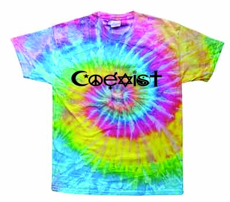 Saturn Coexist Tie-Dye Shirt