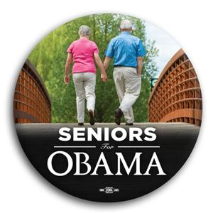 Seniors for Obama Button 3""