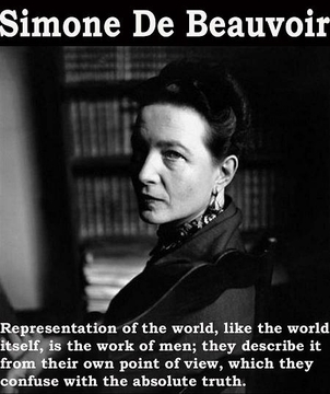 Simone De Beauvoir Poster