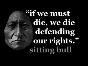 """Sitting Bull Defending Our Rights Poster 11 x 17"""""""