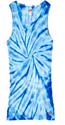 Spider Baby Blue Tie Dye Tank Top