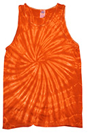 Spider Orange Tie Dye Tank Top