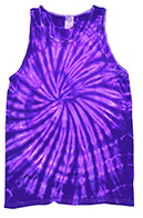 Spider Purple Tie Dye Tank Top