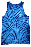 Spider Royal Tie Dye Tank Top