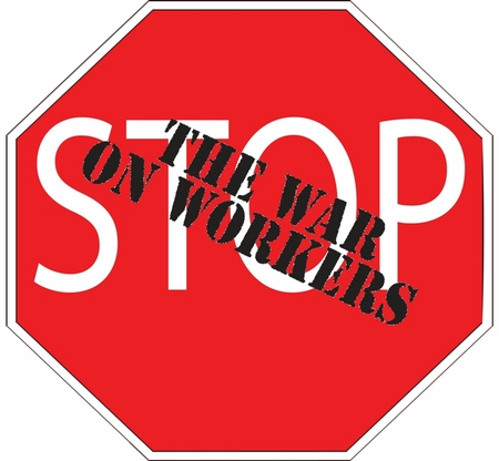 STOP The War On Workers Sweatshirt & Hoody