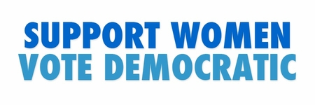 SUPPORT WOMEN VOTE DEMOCRATIC BUMPER STICKER