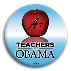 Teachers for Obama  Button