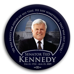 "Ted Kennedy ""Ahead of His Time"" Button"