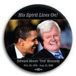 Ted Kennedy Obama Button 3""