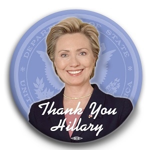 Thank You Hillary Button