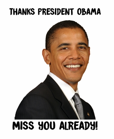 New! Thanks President Obama Miss You Already! Portrait T-shirt