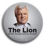 The Lion - Ted Kennedy Button - 3""