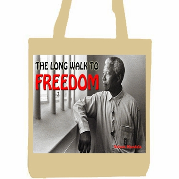 The Long Walk to Freedom Nelson Mandela Tote Bag
