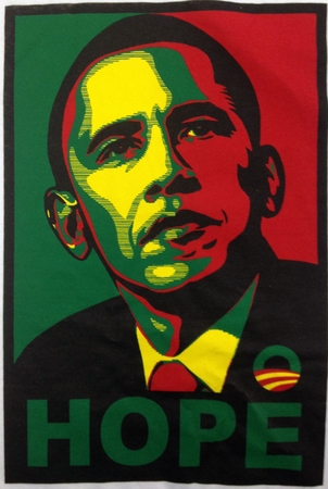 Rasta Obama HOPE T-Shirt