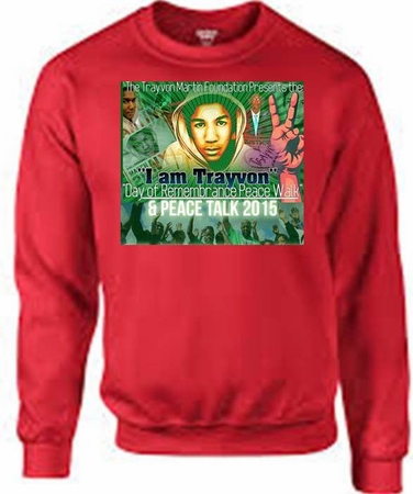 Trayvon Martin Day of Rememberance Peace Walk Sweat Shirt