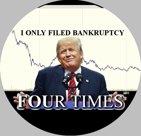 """Trump had Four Bankruptcies"" Button"