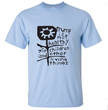 Trump is Not Healthy Sky Blue T-Shirt