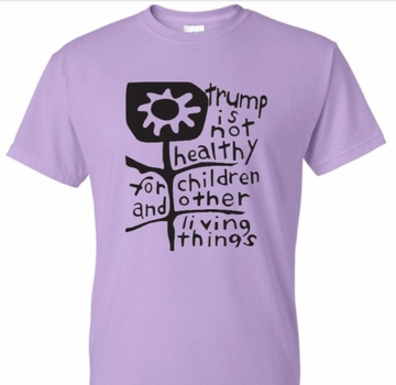 Trump is Not Healthy Lavender T-Shirt