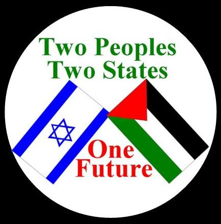 Two Peoples, Two States Israeli Palestinian Flag Peace Magnet