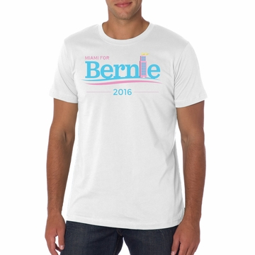 New! Unisex Miami for Bernie White Art Deco  T-shirt