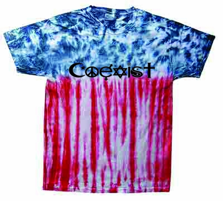 USA Flag Coexist Tie-Dye Shirt