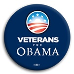 Veterans for Obama Button