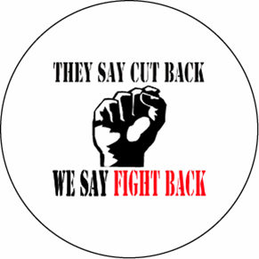 "We Say Fight Back 3"" Button"
