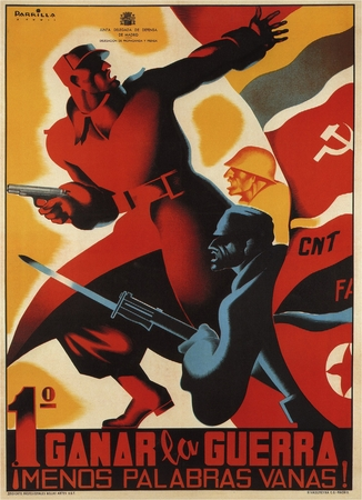 Win The War Spanish Civil War Poster 11 x 17""