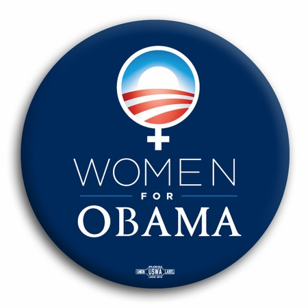 Women For Obama Logo Button