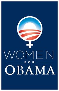 "Women for Obama Navy Blue Poster 11"" x 17"""